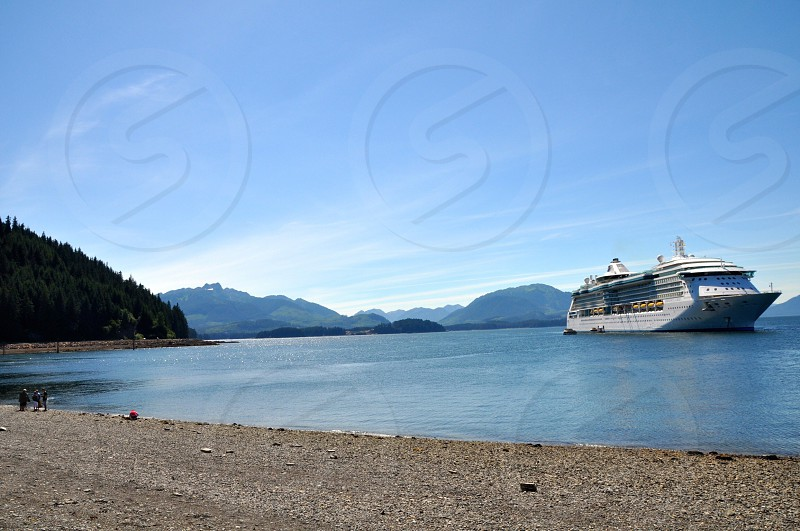 Cruise liner in Alaska photo