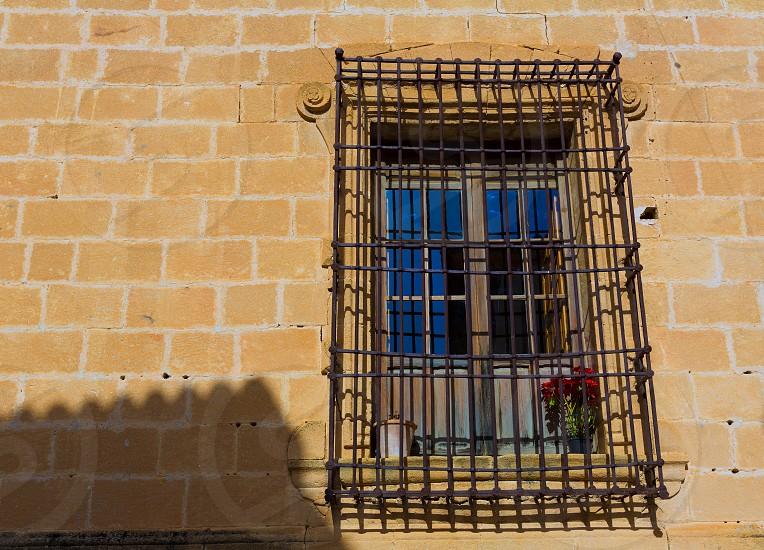 Javea Sant Bertomeu church window detail in Alicante Spain photo