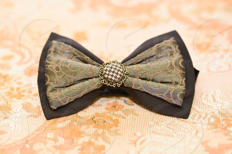 groom bow tie photo
