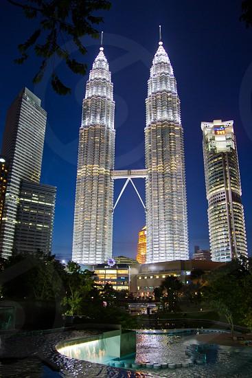 Kuala Lumpur central park at night photo