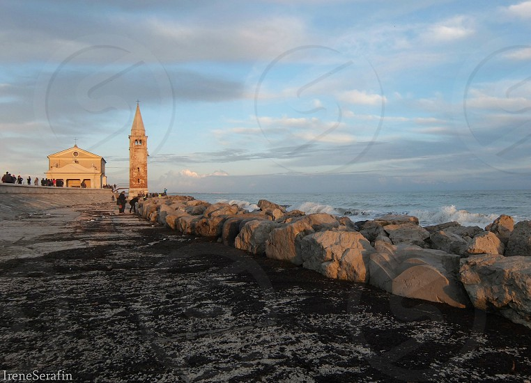 Caorle Italy: a church on the sea  photo
