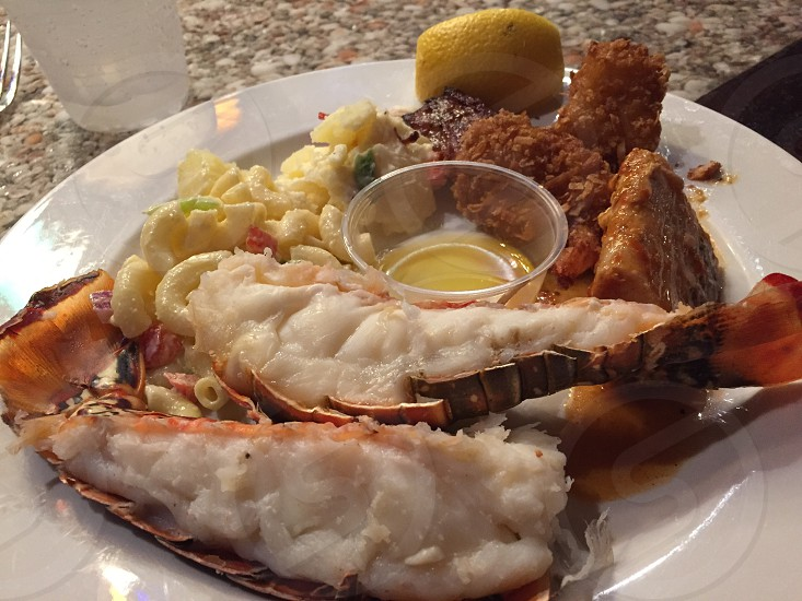 Seafood buffet in St Thomas November 2014 photo