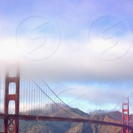Fog over the Golden Gate Bridge photo
