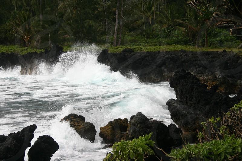 Ocean waves Hawaii photo