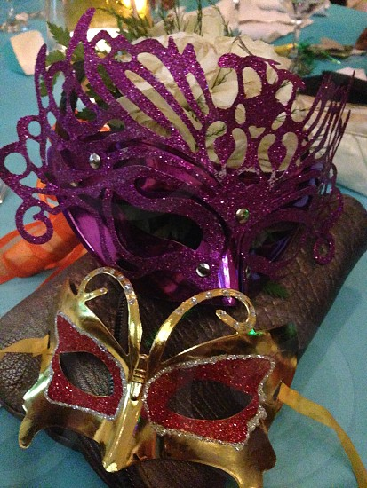 purple masquerade photo