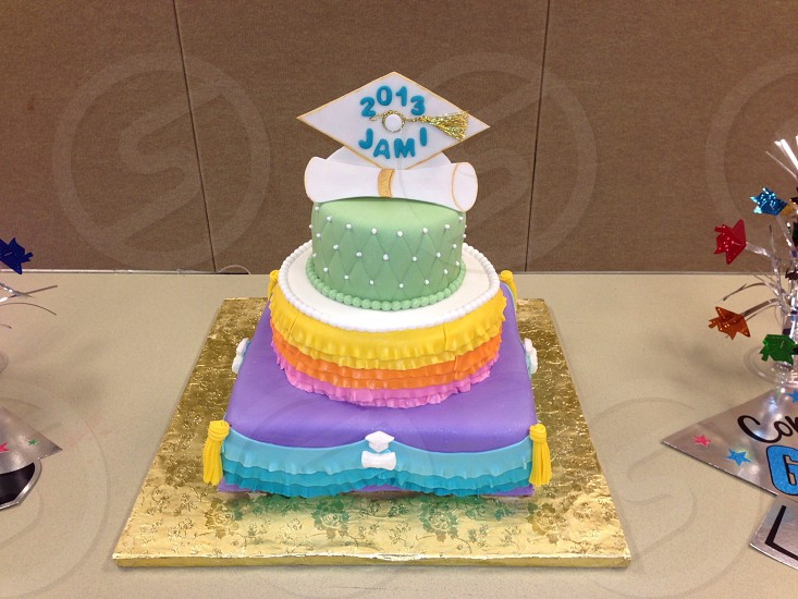 Cake graduation color non-traditional 2013 photo