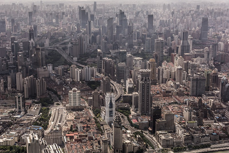 Shanghai city skyline photo