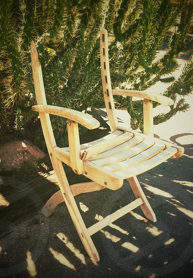 brown wooden outdoor folding chair photo