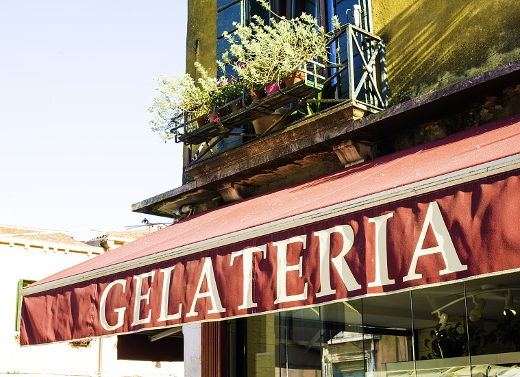 Italian ice cream shop. Exterior photo