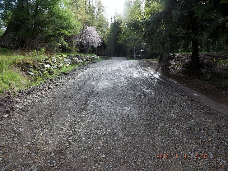 The winding path toward home photo