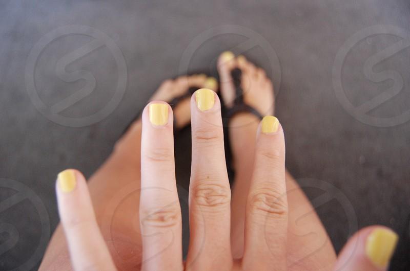 yellow nails photo