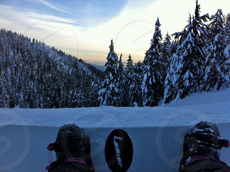Snowboarding Cypress Mountain photo