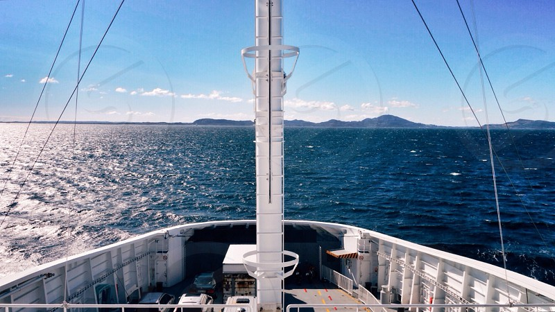 Sailing sea navy ship deck boat sail travel blue lead opensea photo