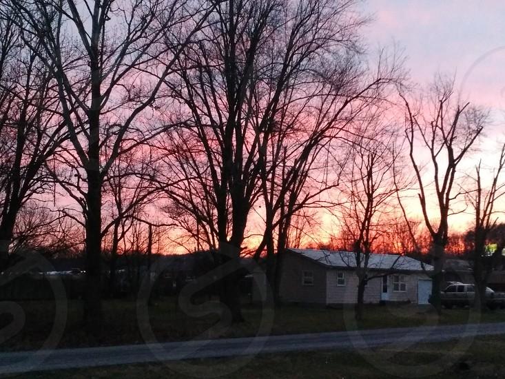 sunset dusk night sun photo