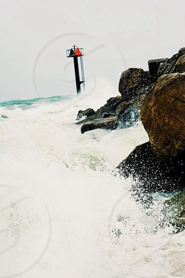 sea wave view photo
