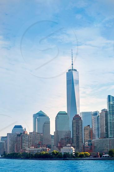 Lower Manhattan skyline Battery Park New York NY NYC USA photo