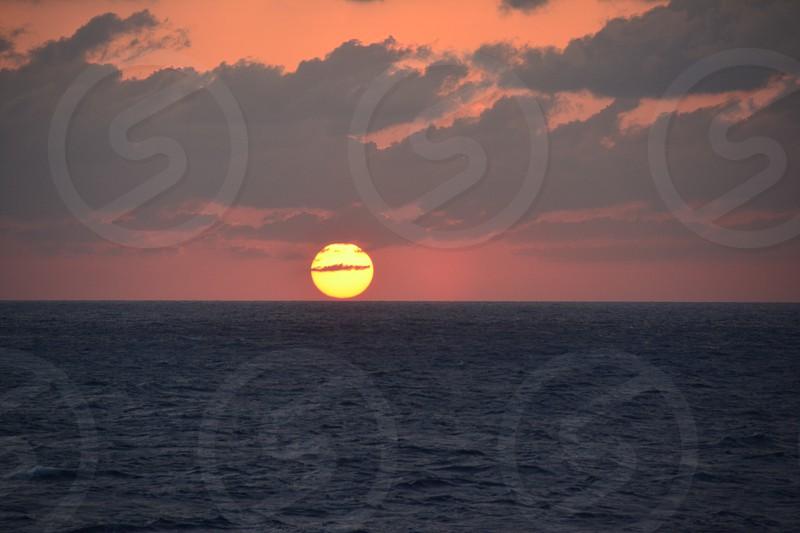 orange and red horizon photo