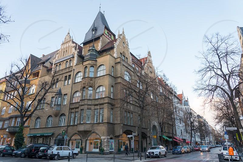 Pre-war building along Mommsenstrasse Charlottenburg Neighborhood in Berlin Germany photo