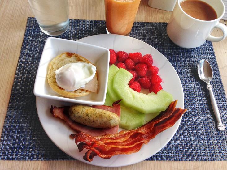 Breakfast fruit colors food photo