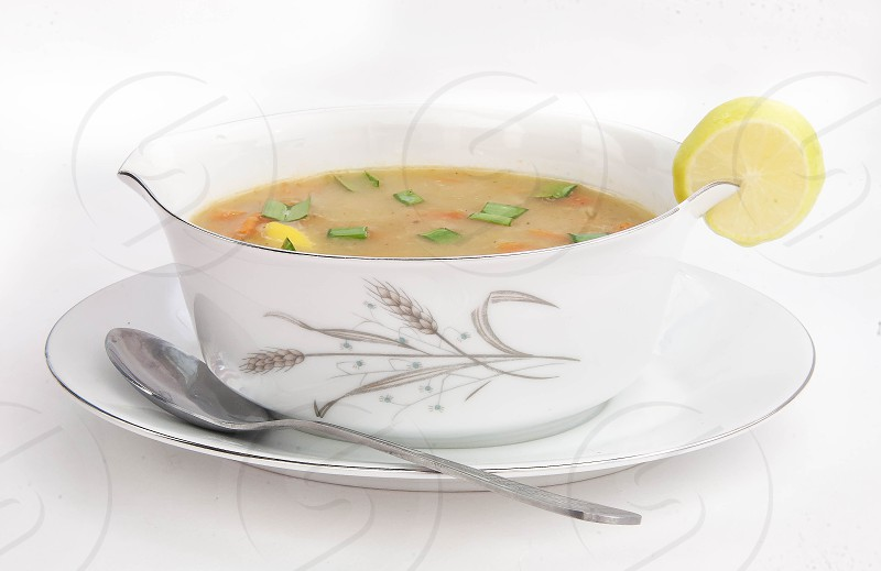 Soup with white background.... photo
