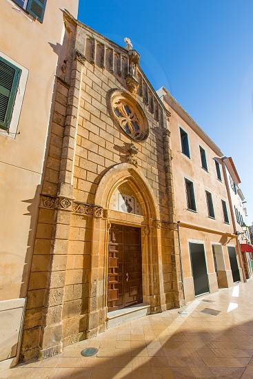 Ciutadella Menorca carrer Mao church downtown in Ciudadela Balearic Islands photo