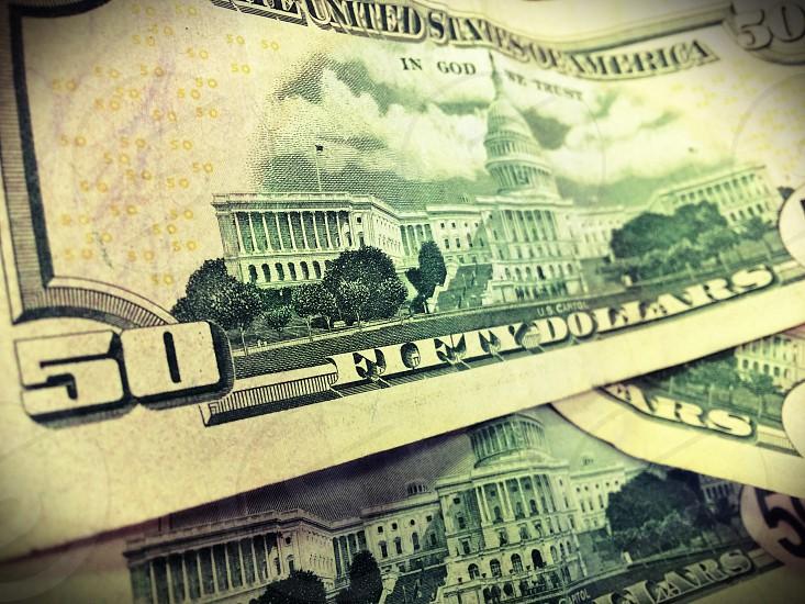 50 dollar bill from usa photo