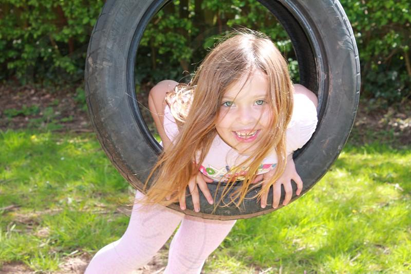 Sophie in the garden.  photo