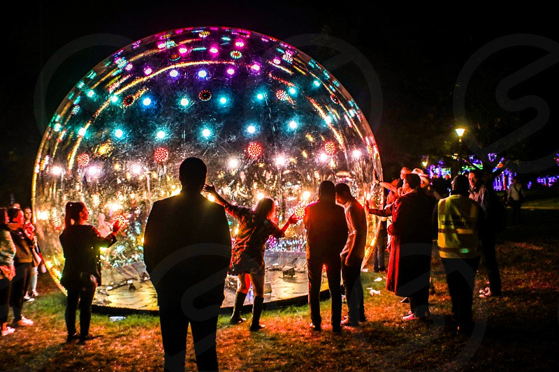 Sonic Light Bubble Melbourne White Night Festival photo