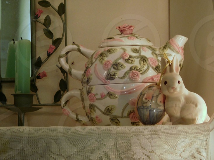 Easter Teapot Spring Rabbit Easter egg photo