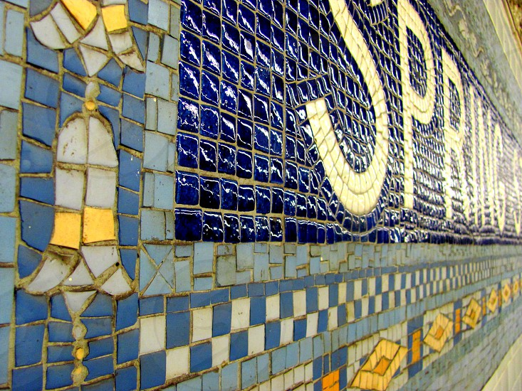 Spring Street Subway Station New York City photo