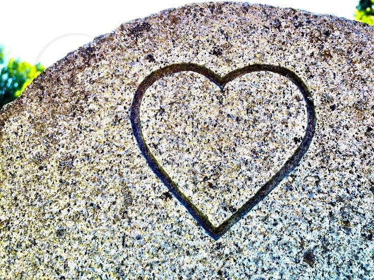 Heart stone sky photo