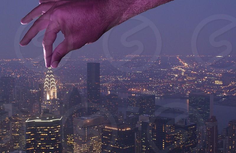 Chrysler Building night time short NY City photo