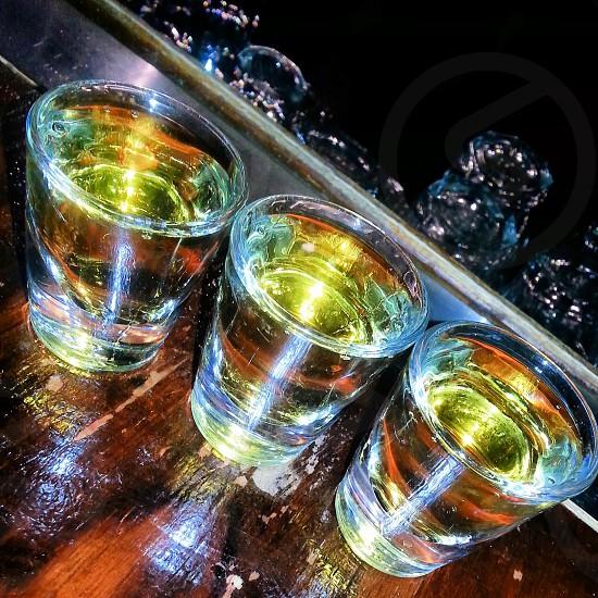 unfiltered beautiful Jameson shots. taste the rainbow. photo