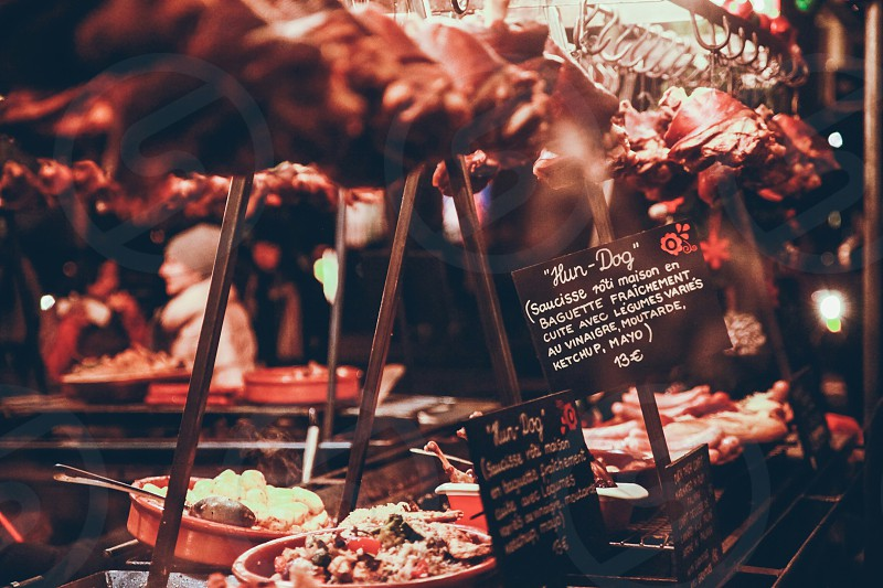 street food paris christmas france photo