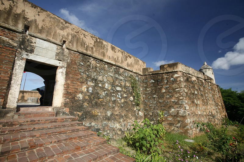 the Castillo Santa Cruz in the town of La Asuncion on the Isla Margarita in the caribbean sea of Venezuela. photo