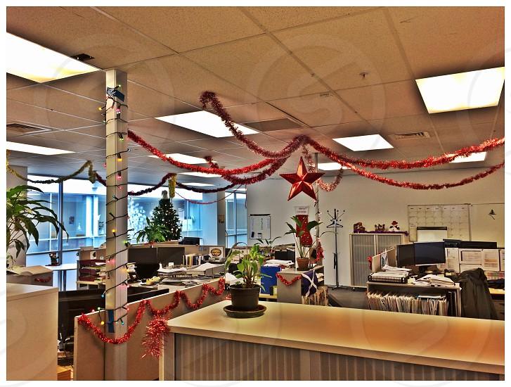 Christmas deco at work photo