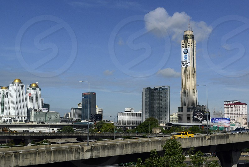 the skyline with the Baiyoke sky hotel at the Siam square aerea in the city of Bangkok in Thailand in Suedostasien. photo