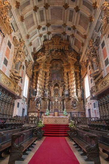 Porto Cathedral interior view. Porto Portugal. photo