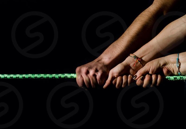 green rubber tie photo
