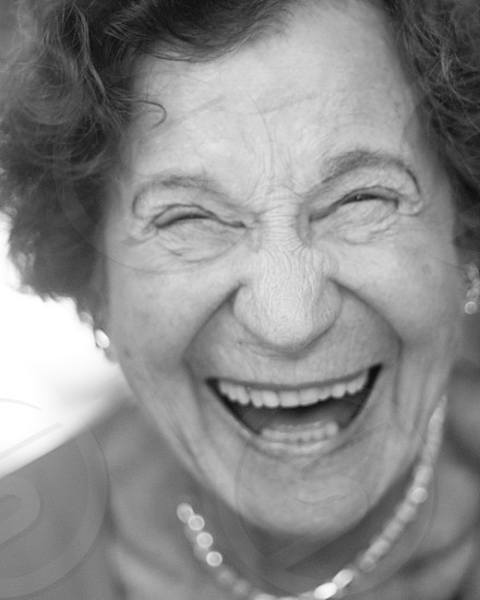 woman laughing photo