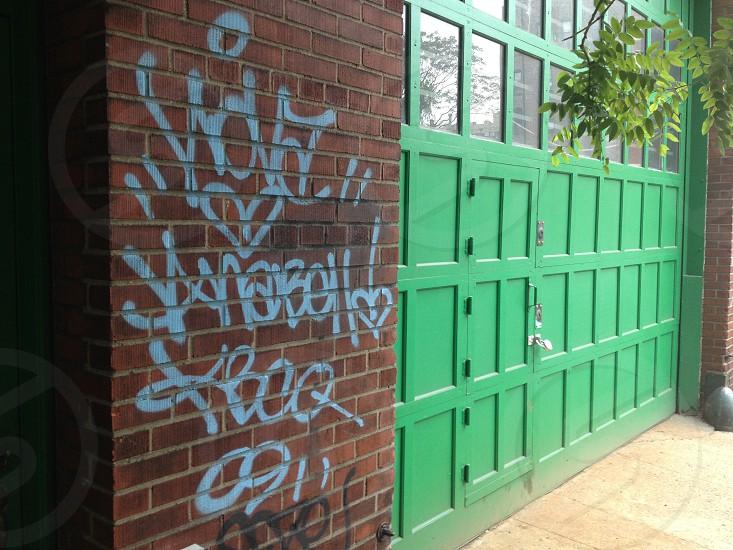 #graffiti in #NYC #green photo