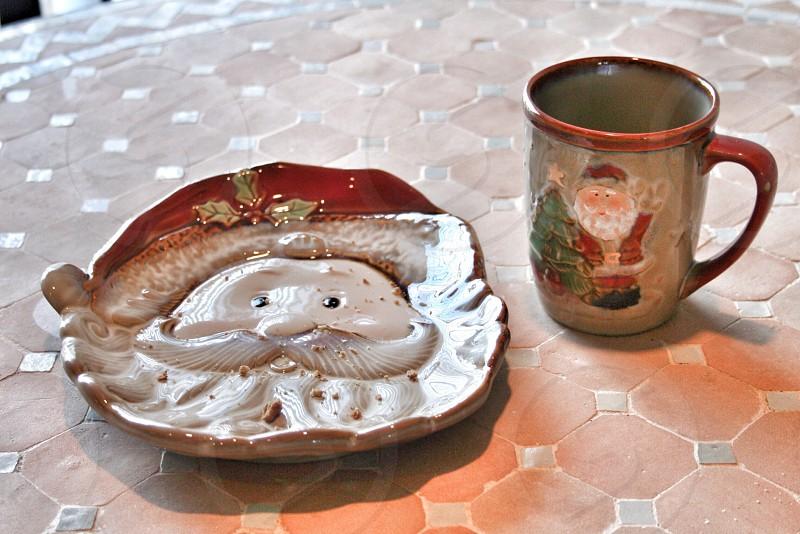 santa clause designed plate photo
