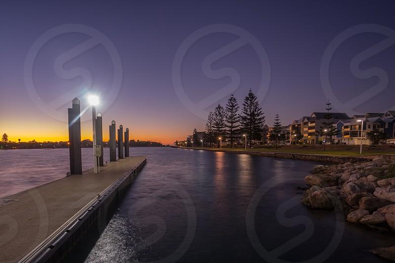 Sunset mandurah western australia photo