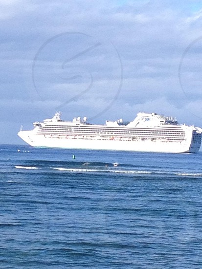 Cruise ship ocean Hawaii  photo