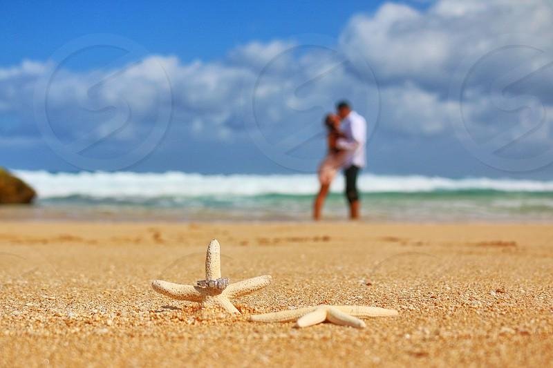 Engaged in Hawaii. photo