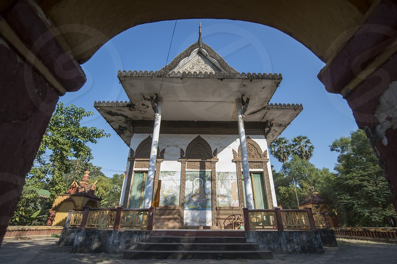 the Wat Preah Polanka Temple in the city of Siem Reap in northwest of Cambodia.   Siem Reap Cambodia November 2018 photo