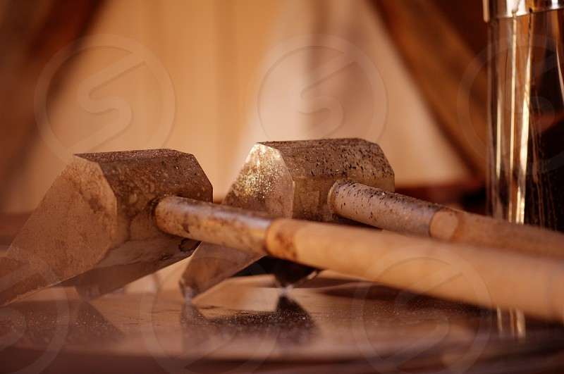 Tools used in process of making Pure Maple Syrup. Taken in Upstate NY near the Vermont border. photo