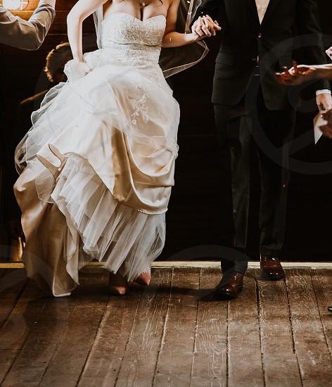 Wedding day walk photo