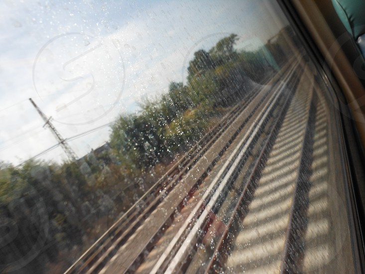 my view perspective trainride ride train NY New York Long Island LIRR tracks window seat photo