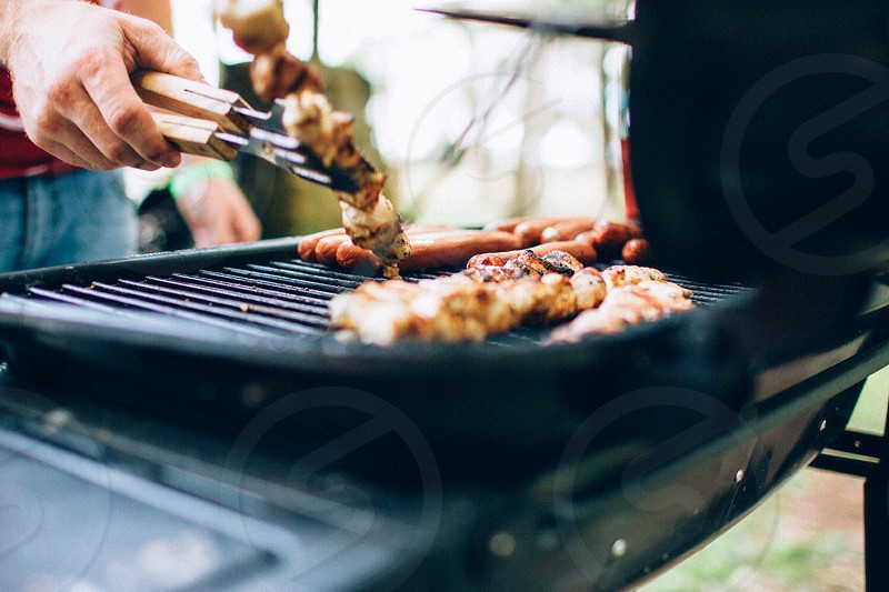 black metal outdoor grill photo